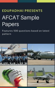 AFCAT Sample Paper