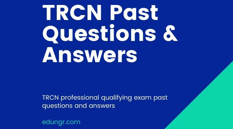 TRCN past questions book cover