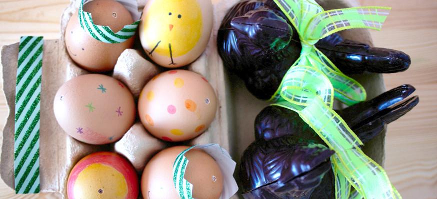 Des œufs décorés pour fêter pâques