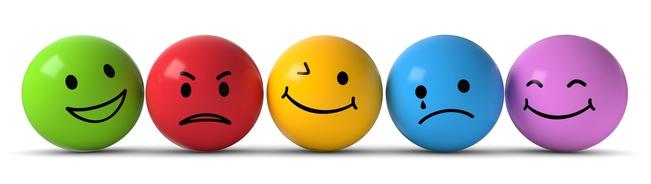 Petites boules représentant les émotions