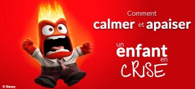 Apaiser et calmer un enfant en crise