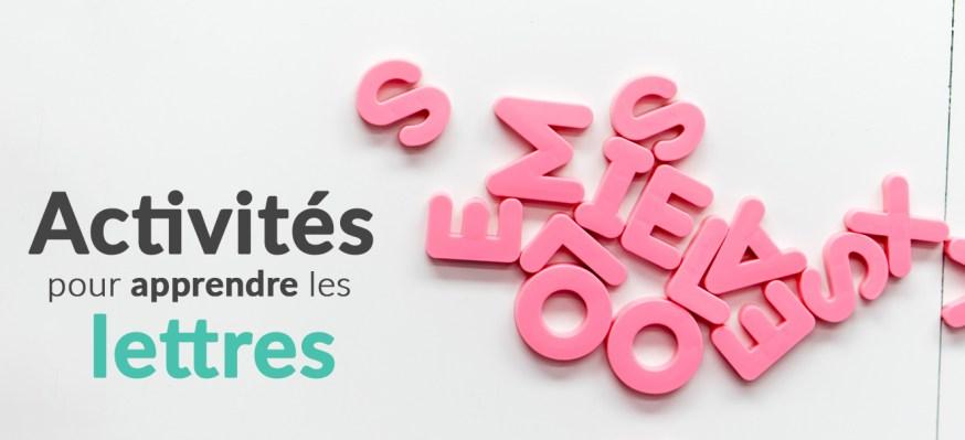 Activités pour apprendre les lettres