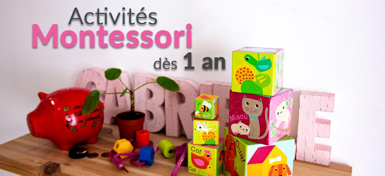 Activités Montessori pour les bébés dès 12 mois