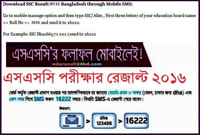 SSC Result 2016 BD | www.educationboardresults.gov.bd