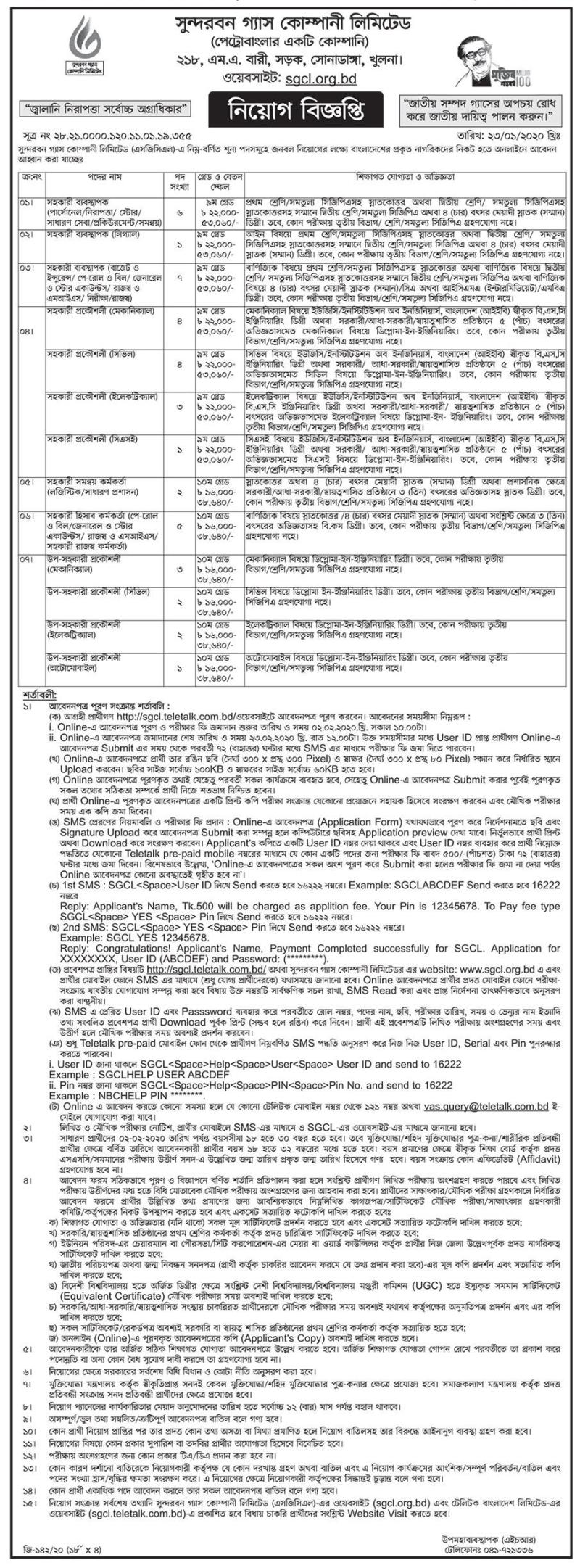 Titas Gas Transmission Job Circular 2020