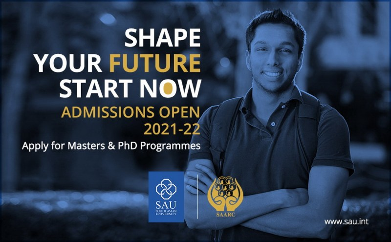 South Asian University Masters, M.Phil and PhD Admission Circular 2021