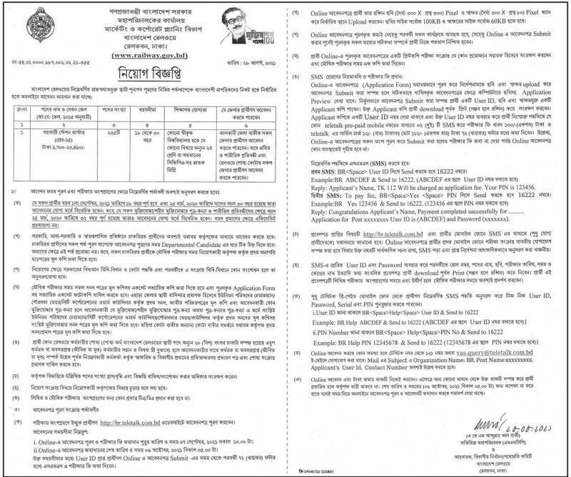 Bangladesh Railway Assistant Station Master Job Circular 2021