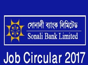 Sonali Bank Job Circular 2017