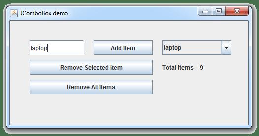 طريقة إضافة عناصر في ال JComboBox
