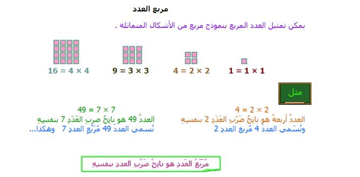 مربع العدد ٨ يساوي