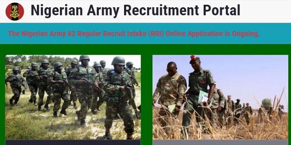 Nigerian Army Recruitment 82 Regular Recruit Intake