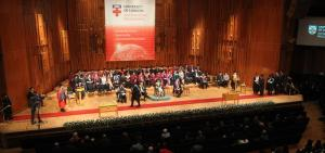 HRH Princess Anne is the Chancellor of University of London and presents the speech at the graduation