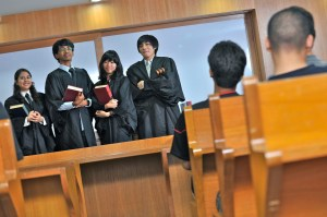 Law students at KDU University College Moot Court
