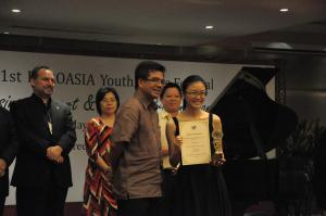 UCSI University's Mei Xuan winning 3rd prize in the 1st EUROASIA Youth Music Competition in the Senior category