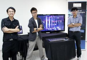 Yap Lichen and Rex Cheefei at KDU Game Development Showcase of Vestigia