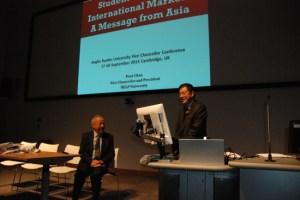 Thorne with HELP University president Datuk Dr Paul Chan.