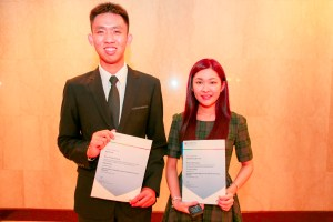 Mr Ng Rui Hao and Ms Venetia Wong Shin Yee, students from KDU College Penang were being conferred the June 2014 Outstanding Cambridge Learner Awards - Top in the World (AS Mathematics) and Top in the World (AS Business Studies) A-Levels categories respectively