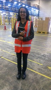 Elizabeth Reima, UCSI University Logistics graduate, at her work place where she had also interned while at UCSI