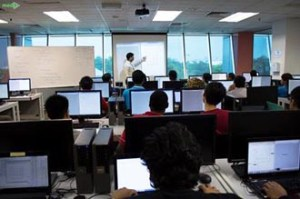 Computing class at Asia Pacific University