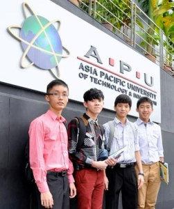 EduSpiral helped us to make the right choice! Qi Leem, Jeremy, Chee Wey & Zhi Kang from different cities studying at Asia Pacific University