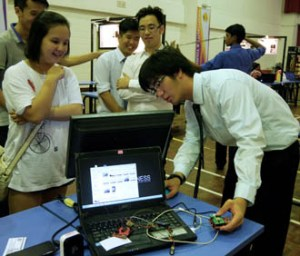Final year engineering students' project at KBU International College