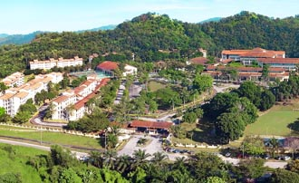 Nilai University's 105-acre campus is conducive for tertiary studies.
