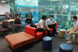Mini-Lounge for Computer Games Development students at Asia Pacific University