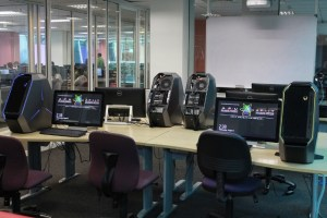 Asia Pacific University's Studio is well-equipped with Alienware Destop PC