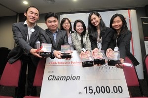 Taylors Business School students swept up the first prize in the HSBC Malaysia Business Case Competition 2014