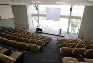 Lecture Theatre with a view of the Lake at Taylor's University