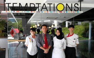 Temptations training restaurant at Taylor's University