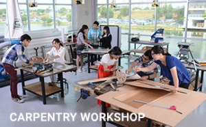 Carpentry Workshop for interior architecture students at Taylor's University School of Design