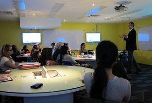 X-Space Classroom at Taylor's University - Promoting Learning Collaboratively, From the Lecturer, Peers and the World
