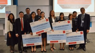 Five of Heriot-Watt University Malaysia's top Accounting students were presented their ACCA Book Prize Award worth RM1,000 each