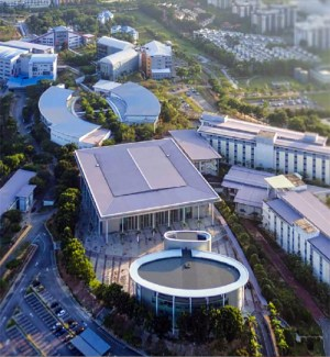 Multimedia University (MMU) Cyberjaya 80-Hectare campus is equipped with various intelligent features such as multimedia learning facilities, intelligent building systems, a digital library, and an integrated campus management system designed to nurture innovative management graduates.