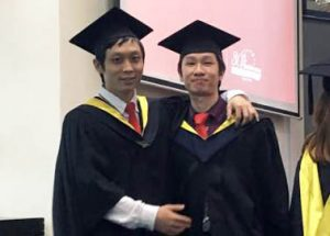 "EduSpiral helped me to transfer my Diploma & everything went smoothly. I also asked him to help my younger brother to find the the right university after his UEC"". Haw Chieh (Right), Graduated in Accounting from UCSI University"