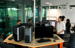 Alienware lab for Computer Game Development course at Asia Pacific University