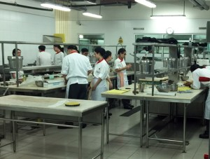 Training kitchen for Culinary Students at Taylor's University Lakeside Campus