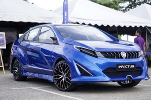 Asia Pacific University (APU) Students winning design in the Proton DRB-Hicom Creative Car Challenge (PD3C) 2018, their concept car Invictus