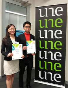 Left-to-right: ASEAN Virtual Business Plan Competition 2018 international champions Marissa Ooi and Matthew Ooi from Team GoGood, Malaysia.