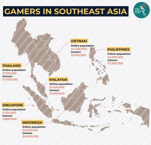Number of Gamers in Southeast Asia