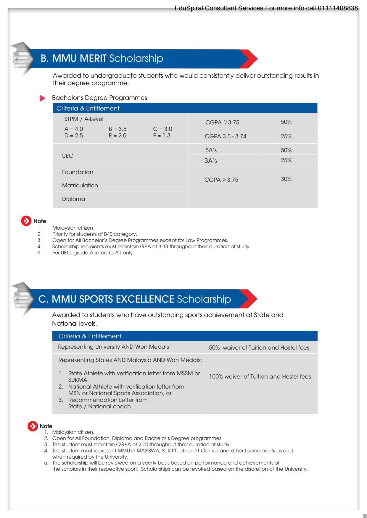 Multimedia University (MMU) 2021 Scholarship Details