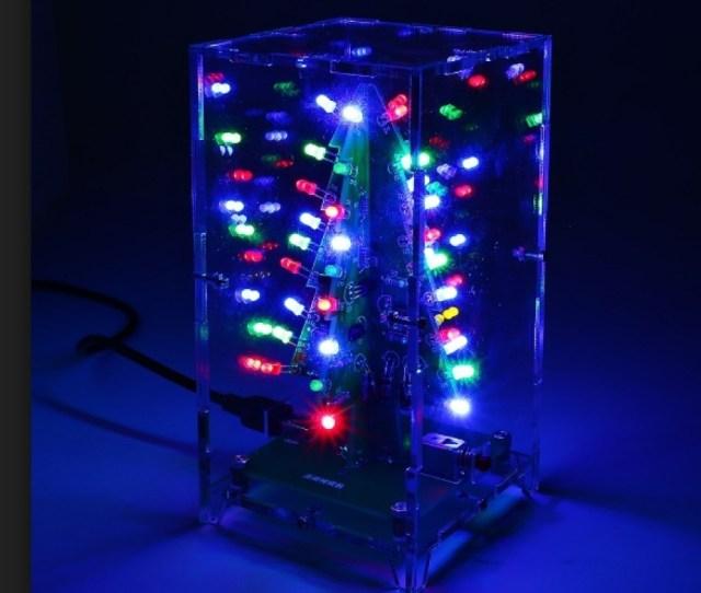 New Shine D Christmas Tree Led Flashing Light Diy Kit Red Green Flash Circuit Electronic Fun Suit