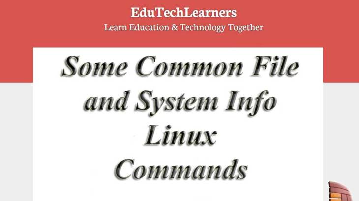 Some Common File and System Info Linux Commands