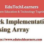 Java Stack Implementation using Array