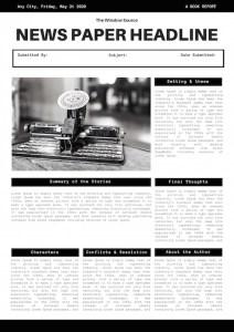Black Simple Typewriter Newspaper Book Report