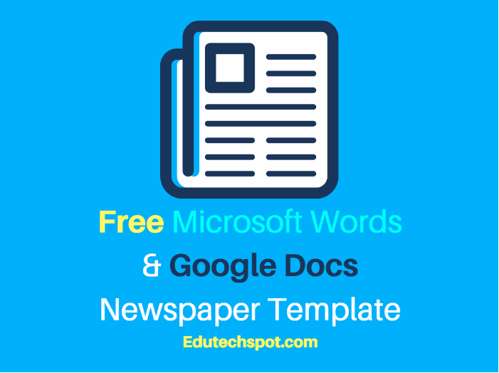 25 Free Google Docs Newspaper And Newsletter Template For Classroom