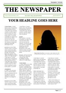 Editable Blank Newspaper Template in Microsoft Word