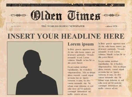 Old Fashioned Vintage Newspaper template edited by adding old paper style background