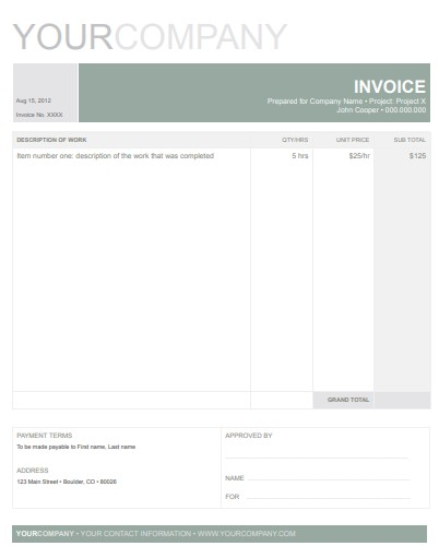 Professional Google Docs Invoice Template Cool